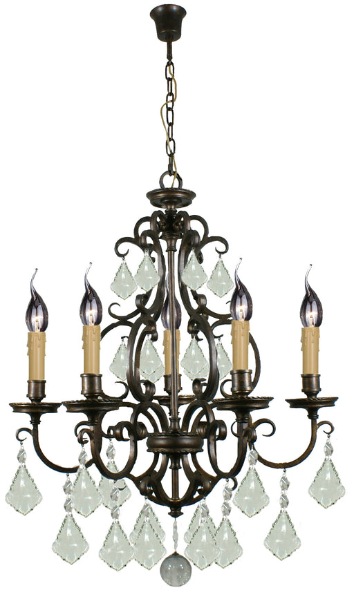 LIGHTING INSPIRATION LOUIS 15th 5LT PENDANT Bronze