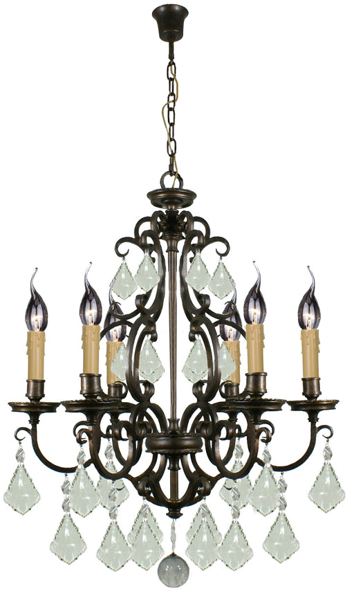 LIGHTING INSPIRATION LOUIS 15th 6LT  PENDANT Bronze