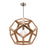 Peeta 1Lt Natural Timber Pendant - Large Mercator Lighting