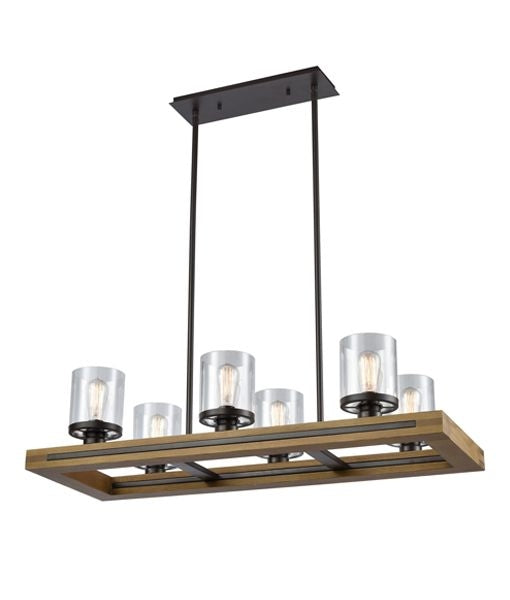 CLA METI01 Warm Chestnut Wood Pendant lights
