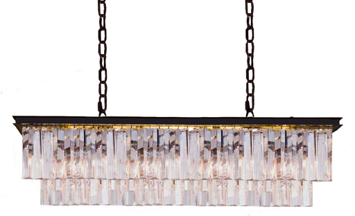 LIGHTING INSPIRATION ODEON BENCH  PENDANT 12LT Bronze