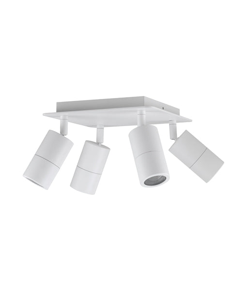 CLA GU10 Exterior 4 Adjustable Head Square Plate Lights