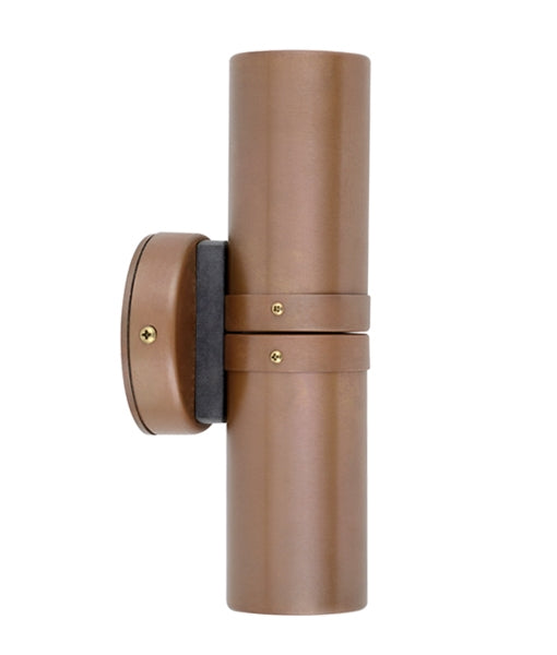 CLA GU10 Exterior Wall Pillar Lights Aged Copper