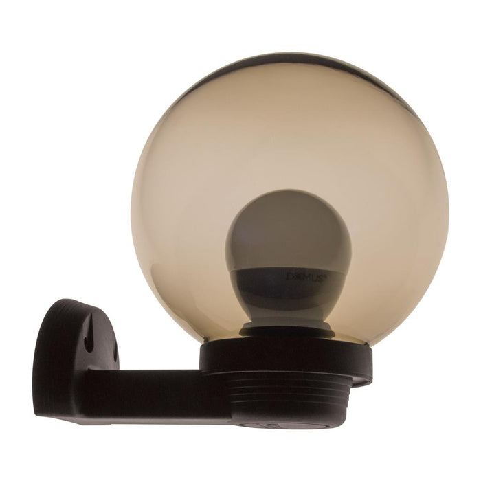 Domus POLYWALL 200mm Sphere & Arm 240V Polycarbonate Wall Light