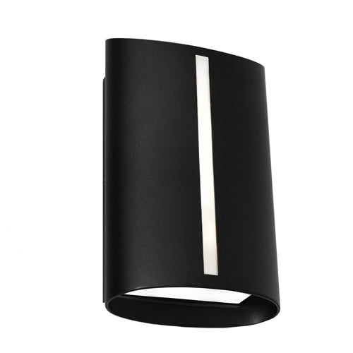 Temma Black Exterior Wall Light Cougar