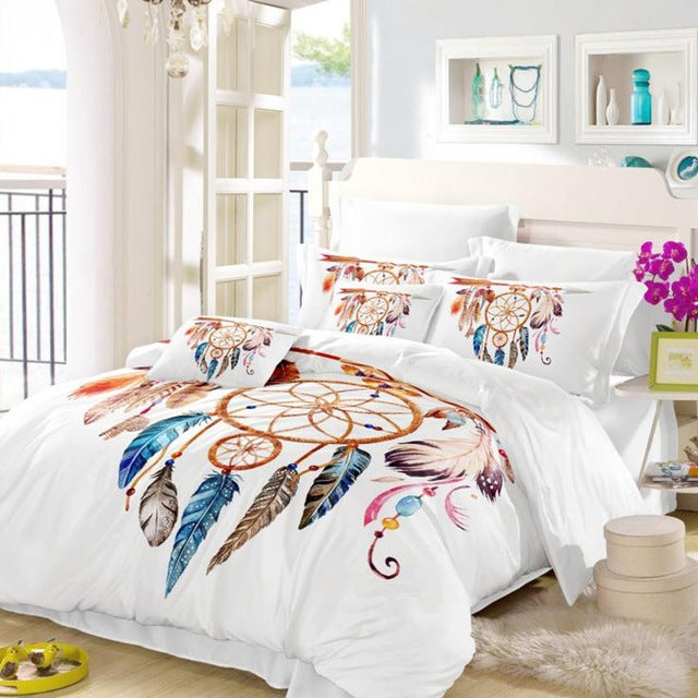 Moon Dreamcatcher Bohemian Duvet Cover set