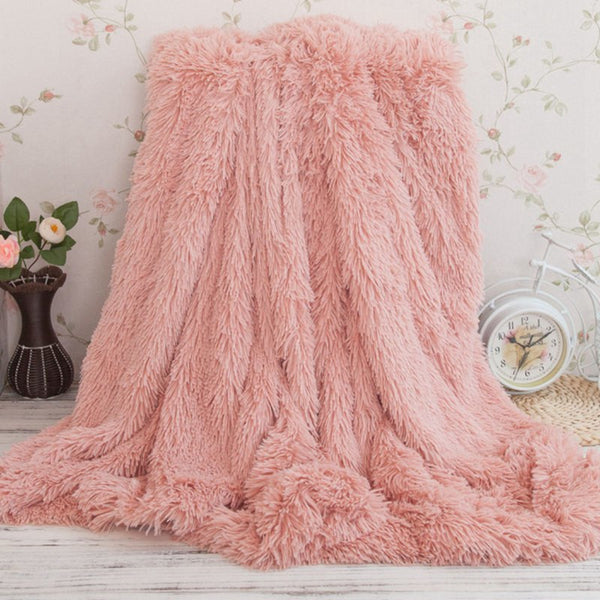Shaggy Fuzzy Throw Blanket