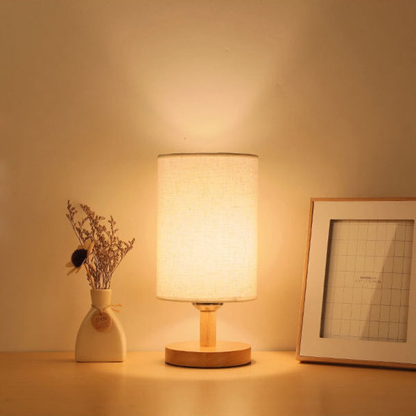 LED Wood Base Bed side Lamp