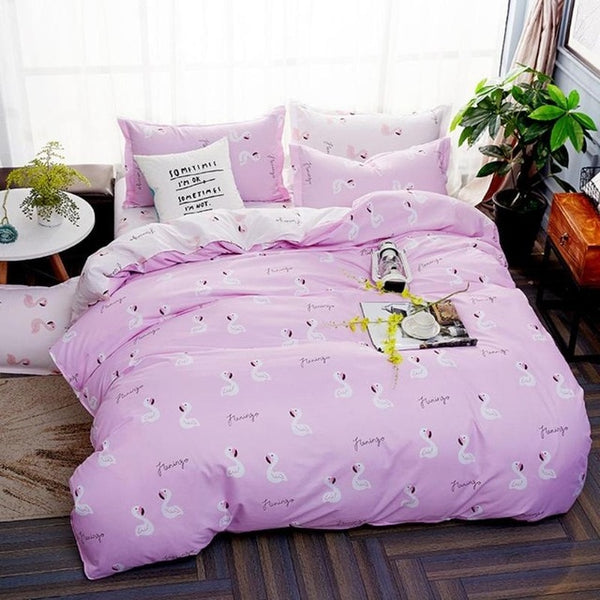 Lovely Pink Flamingo Bedding Sets