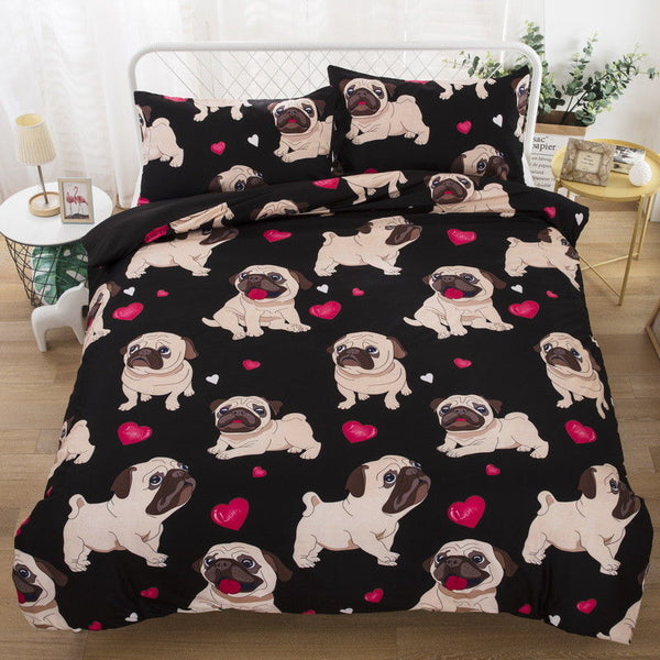 Pug Duvet Cover Set