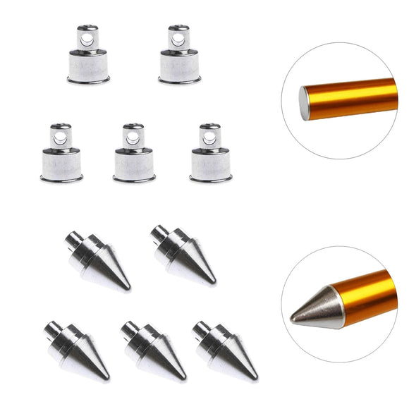 Replacement tips (5 pcs) for your tent poles (flat or pointed end, to suit 16, 19, 25 mm poles)