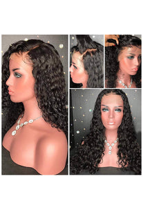 Full Lace Glueless Water Wave Unit