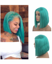 Load image into Gallery viewer, Mermaid Lake Blue Lace Frontal Bob - TheWigZone