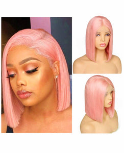 Pink Straight Lace Front - TheWigZone