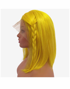 Yellow Straight Bob - TheWigZone