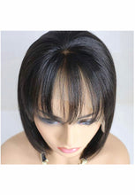 Load image into Gallery viewer, Virgin Hair Lace Front Bob Wig W/ Bang 13x4 - TheWigZone