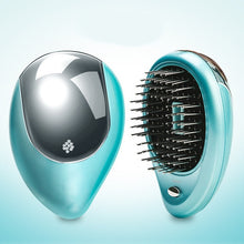 Load image into Gallery viewer, Portable Electric Hair Straightener Brush Anti-static Massage