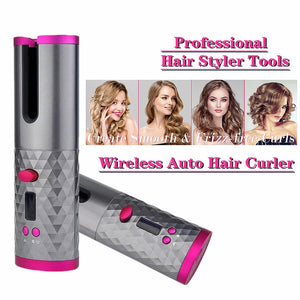 Cordless Automatic Hair Air Curler iron wireless Curling Iron USB Rechargeable