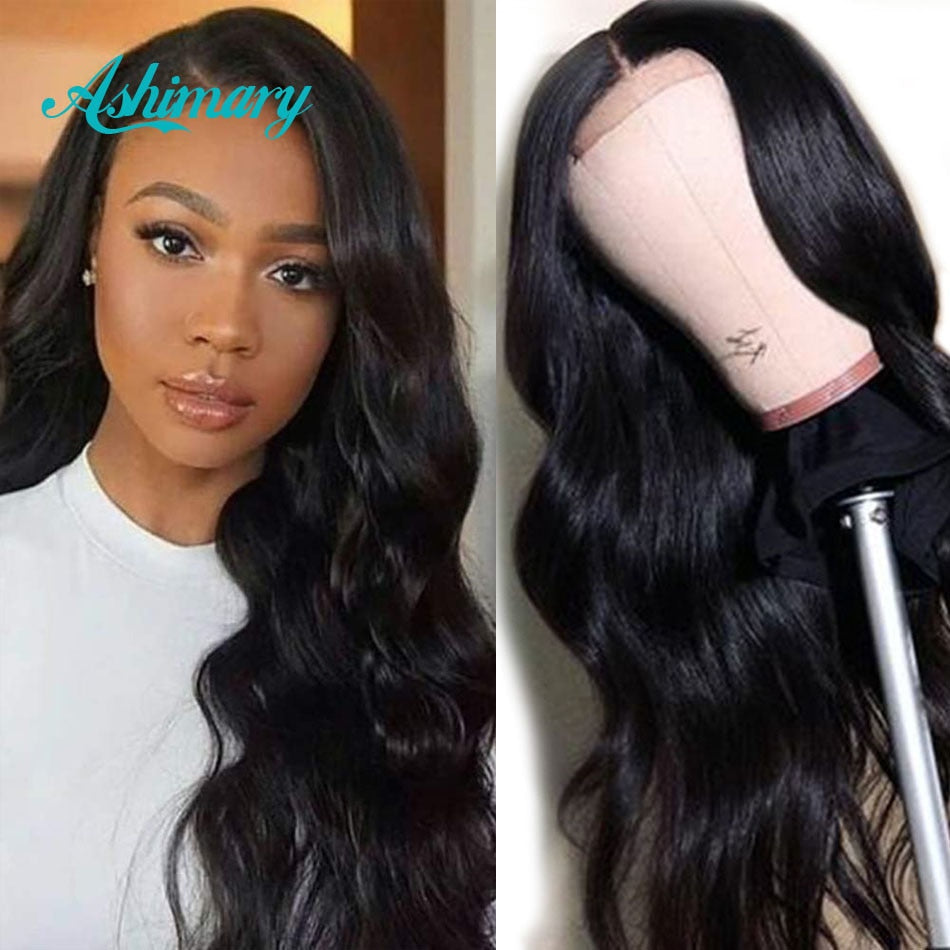 Ashimary 4x4/6x6 Lace Closure Wigs Human Hair Brazilian Body Wave Lace Wigs for Black Women 13X4/13X6 Lace Front Human Hair Wigs