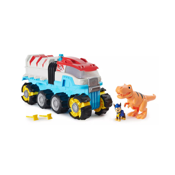 PAW Patrol Dino Rescue Dino Patroller Motorized Team Vehicle with Exclusive Chase and T-Rex Figures