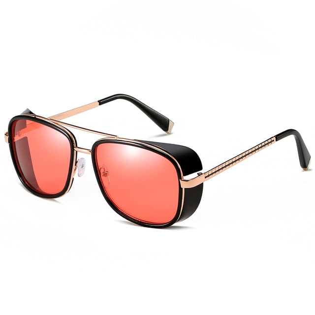 Square Polarized Tony Stark Shades