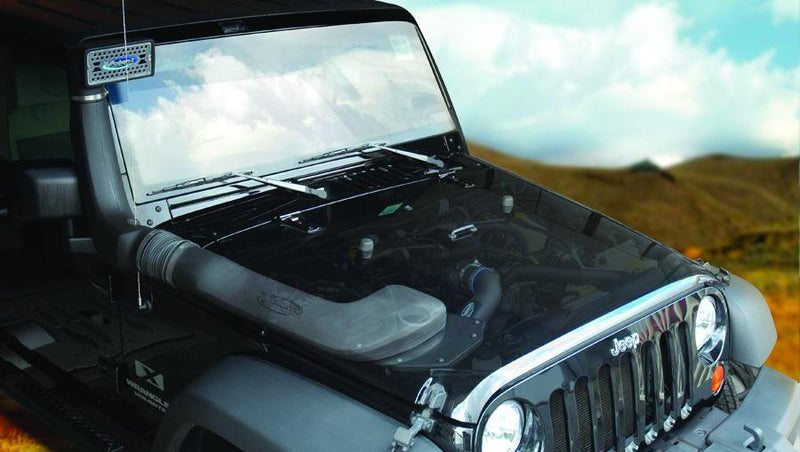 Closed Box with Snorkel (37738) 2007-2011 Jeep Wrangler JK 3.8L V6