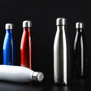 350/500/750/1000ml Double-Wall Insulated Vacuum Flask Stainless Steel Water Thermos - Eco Friendly