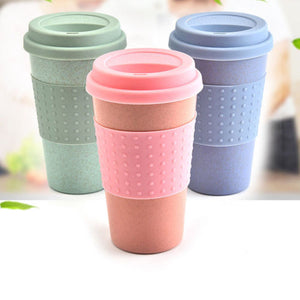 2019 Reusable Bamboo Fibre Coffee Cups - Eco Friendly 300ml Portable Coffee/Tea Mugs With Lid