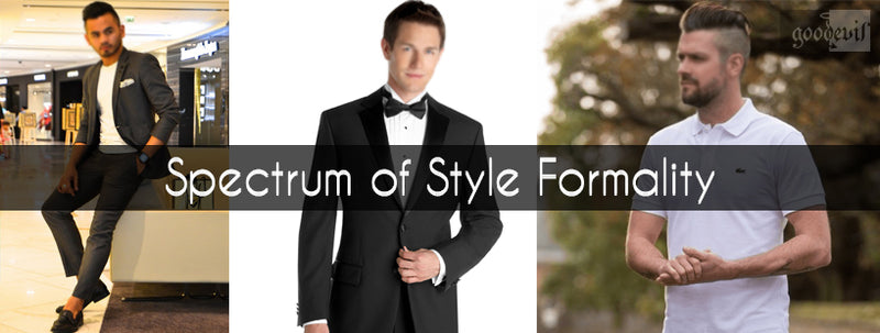 Spectrum of Style Formality|Formals|Contrasting Colors|Check & Patterns|Man in Casuals|Man in Semi-formals|
