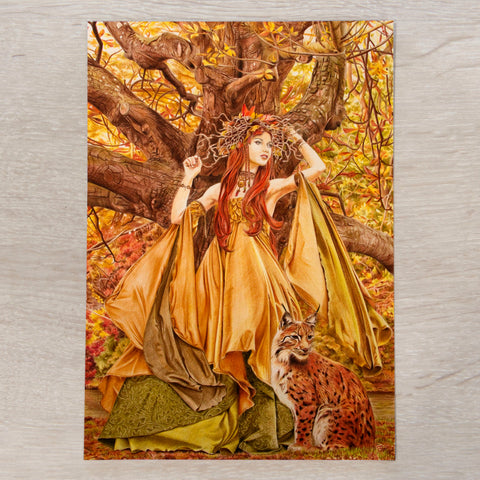 'Autumn Fairy' A5 art card