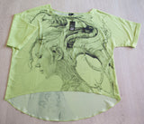 Chiffon women's blouse featuring 'Contemplation' art