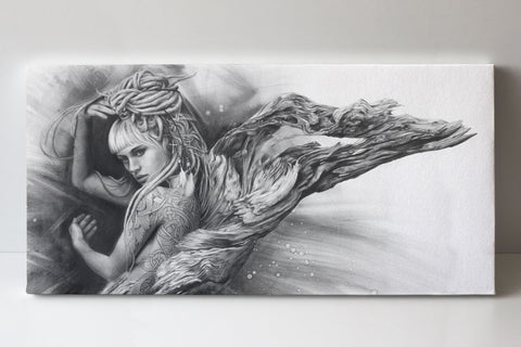 'Driftwood Angel' canvas print