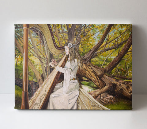 'Harpist of the Valley' canvas print