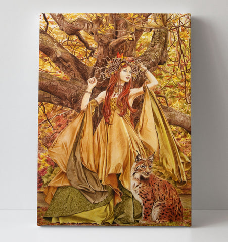 'Autumn Fairy' canvas print