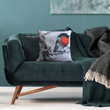Cushion cover featuring 'Scarlet Robin' artwork