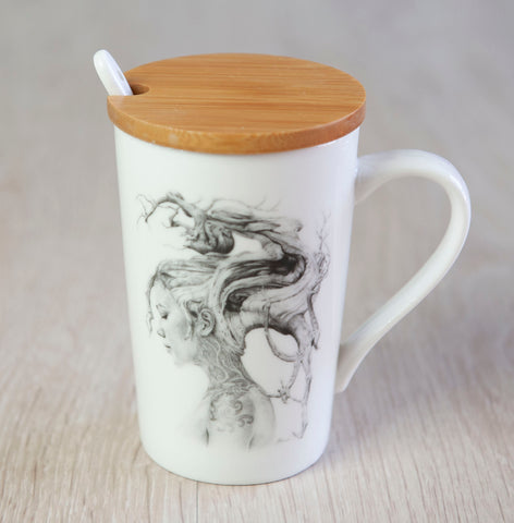 'Contemplation' ceramic travel cup