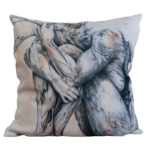 Cushion cover featuring 'Skin Deep' artwork