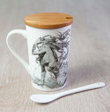 'The Fallen' ceramic travel cup