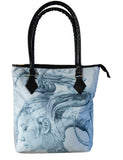 Handbag featuring 'Contemplation' artwork