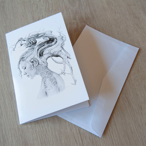 'Contemplation' greeting card