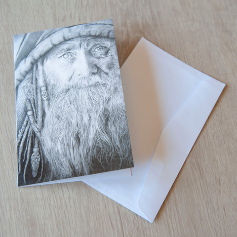 'Merlin' greeting card
