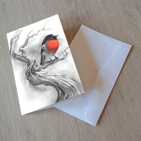 'Scarlet Robin' greeting card