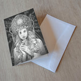 'Virgo' greeting card
