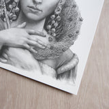'Christmas Angel' art print
