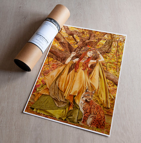 'Autumn Fairy' art print