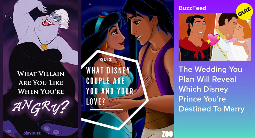 DISNEY QUIZZES, What Disney couple are you and your love? Try so many disney quizzes