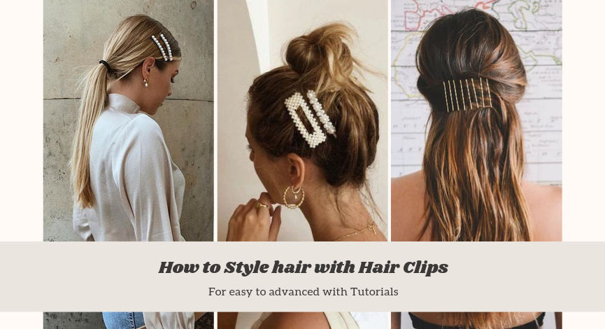 How to style your hair with hair clips