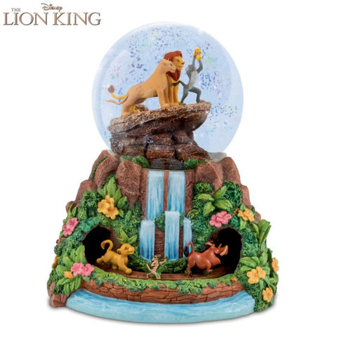 Lion king snow globe rotating Bradford exchange