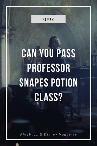 Can you pass Professor Snapes potion class 101? Harry potter quiz