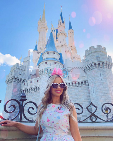 Disney world castle girl pink pretty